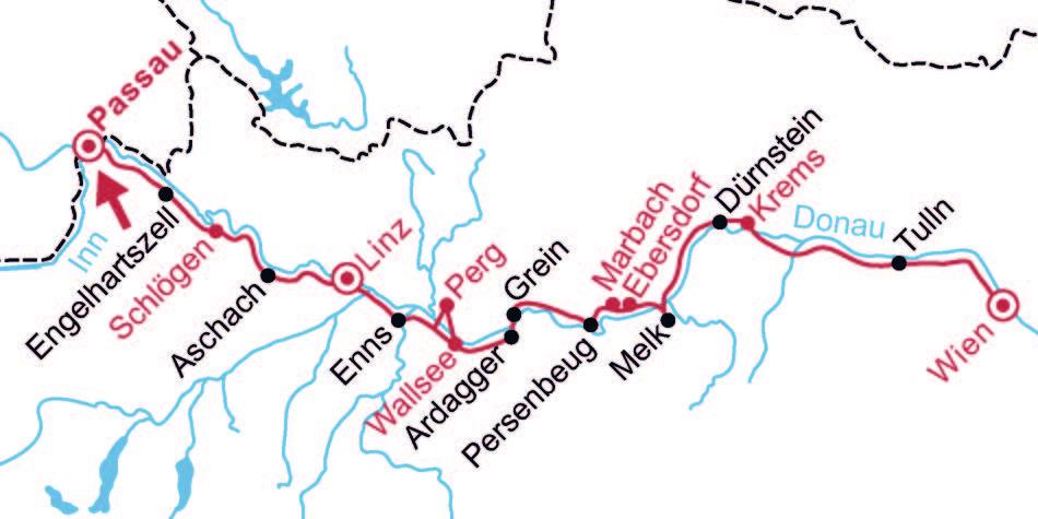 Donau Touristik Karte